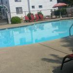 the pool first thing in the morning Sept 5, 2015