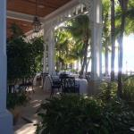 The restaurant Latitudes, view from the outside bar.