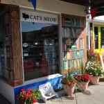 Browseabout Books Store Front & Pet watering station
