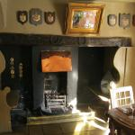 Fireplace in one of the public bar rooms