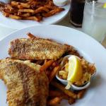Pan fried & battered whitefish with fries