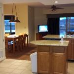 Partial view of kitchen and dining/living room, Teal Landing, Wyndham Pagosa