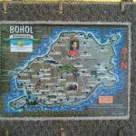 Map of Bohol island at the reception area