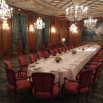 A private dining room ready to serve in Le Bristol Paris