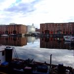 From below the Holiday Inn Express, Albert Dock, Livcerpool.