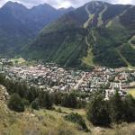 View from hiking trail above Town of Telluride