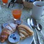 Breakfast on the terrace at the hotel
