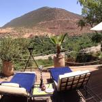 Private patio outside our berber tent