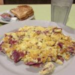 corned beef and eggs for breakfast
