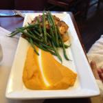 Salmon and sweet potato puree