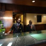 The fabulous gentlemen at the front desk