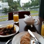Breakfast in executive lounge with a view