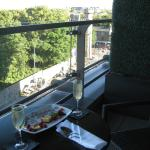Champagne on the Terrace