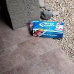 Beer box on ground