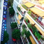 Hotel Sign/View off Balcon