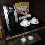 There is an in-room coffee bar.