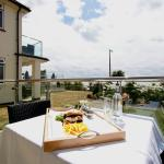 Dining on a private balcony