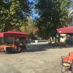 the local square directly outside hotel