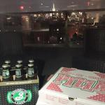Take out on the roof deck