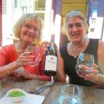 Enjoying Manzoni Pinot Gris at Basil