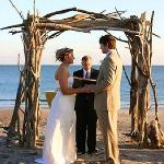 Barefoot beachfront wedding at Aqua!
