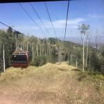 Gondola takes you to mountain trailheads for hiking, biking and zip lines. (charge for gondola)