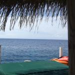 My afternoon view from under our personal cabana