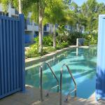 The swim out pool - right at the door!