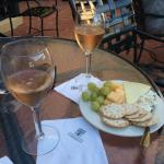 Wine and cheese on the patio