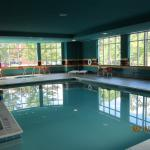 Large indoor pool is relaxing