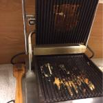 Toasty machine. Just one of the dirty kitchen items