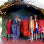 with the Masai warriors