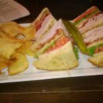 Club Sandwich at Crowne Plaza restaurant