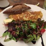Lovely omelet and stuffed peppers
