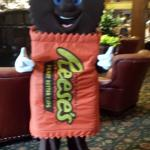 Reese's bar character appearance in Lobby of Hershey Lodge