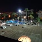 Evening view of pool from balcony