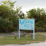 Great Harbour Cay island welcome sign