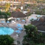 View from the 6th floor looking over the pool area