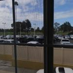 Room with a view of the Ford dealership, breathtaking!