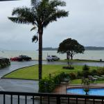 Our first morning in Paihia- very, very wet