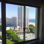View from Bed in #1503, has a sliver of Santa Monica beach