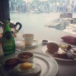 Breakfast with amazing view..! Service was very good and rooms were fantastic.