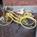 Bikes at Front Hotel Entrace for Guests To Use