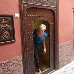 Beautiful entry door to the Riad