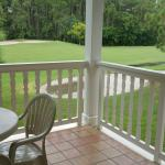 View from 1 bedroom unit in building #12, overlooking hole #8 at LBV Golf Course.