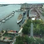 View from room-overlooking Spruce St Harbor Park & Delaware River