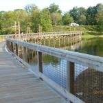 Walk way from the lodge to the campgrounds and activity plaza