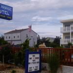 View of motel from road