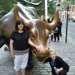 Trying to get some stock tips from the bull....no help.