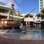 Kids Pool with Pirate Ship
